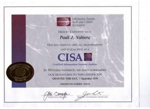 CISA-todistus