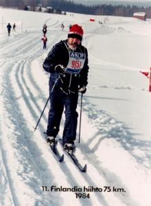 Hyvä on Finlandia-hiihtäjän hiihdellä