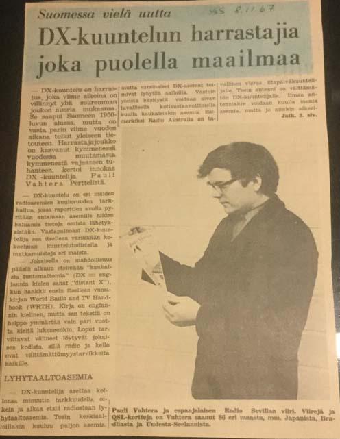 Salon Seudun Sanomat 1967. Klikkaamalla kuvaa se aukeaa toisessa ikkunassa ja uusi klik suurentaa kuvan.